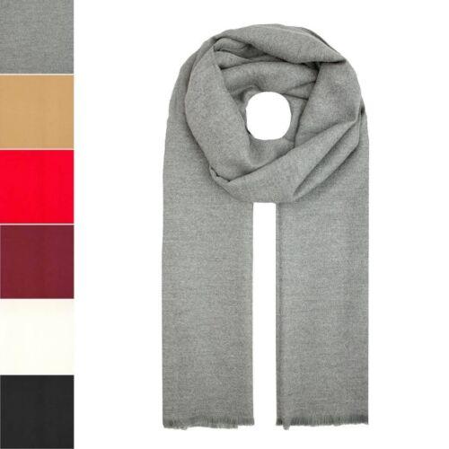 Womens Mens Large Soft Plain Oversize Thick Winter Autumn Warm Shawl Wrap Scarf