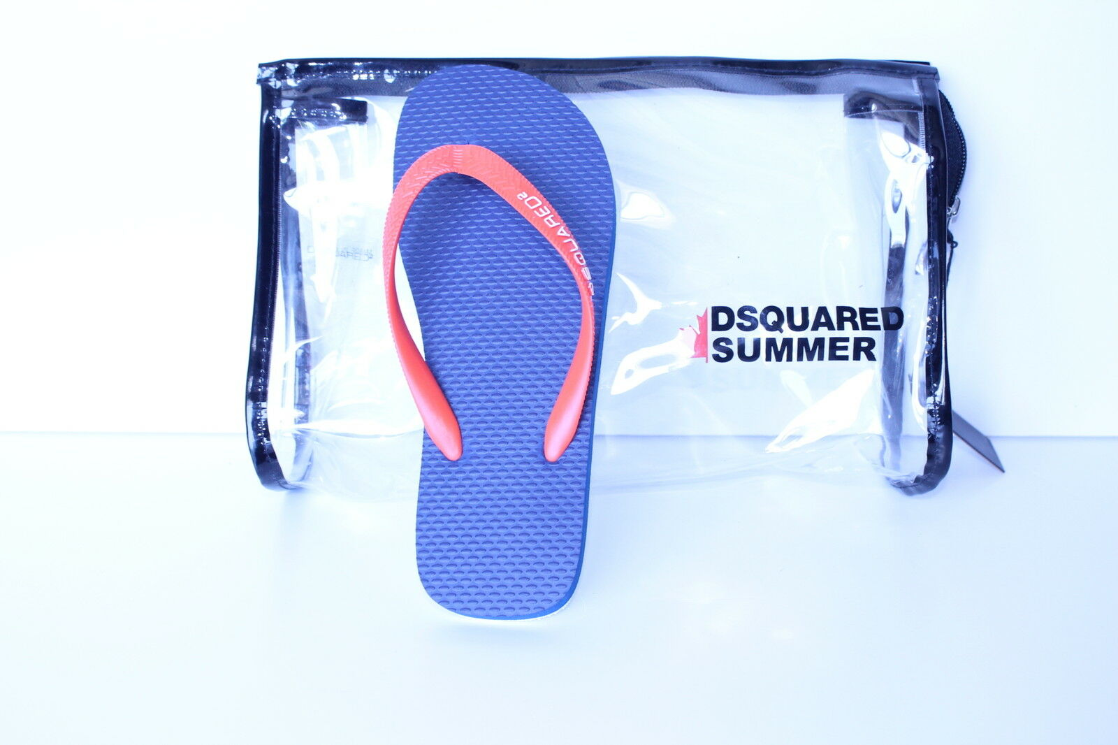 1) DsquaROT2 arancio infradito arancio DsquaROT2 con fondo blu. 779d1c
