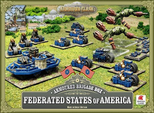 SPARTAN GAMES ARMOUROT CLASH BRIGADE BOX FEDERATED STATES OF AMERICA