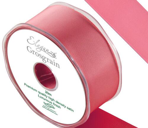 Cinta del grosgrain Calidad Premium 38mm X 20m por Eleganza 24 Colores Disponibles
