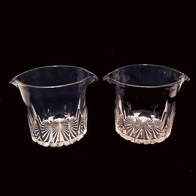 Antique 19th Century Pontil Cut Etched Glass Wine Rinser