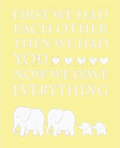 Image Is Loading Gray And Yellow Elephant Nursery Print Twin