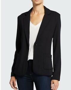 Majestic Filatures Womens French Terry L//S 1 Button Blazer