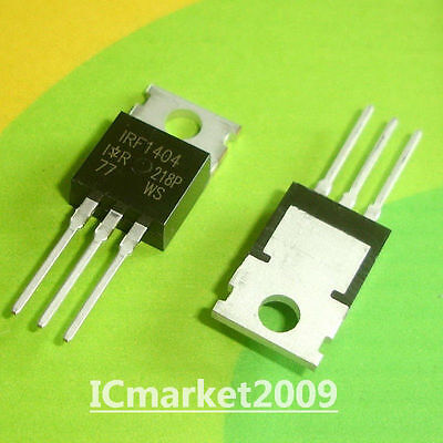 100 PCS IRF1404 TO-220 Power MOSFET NEW ORIGINAL