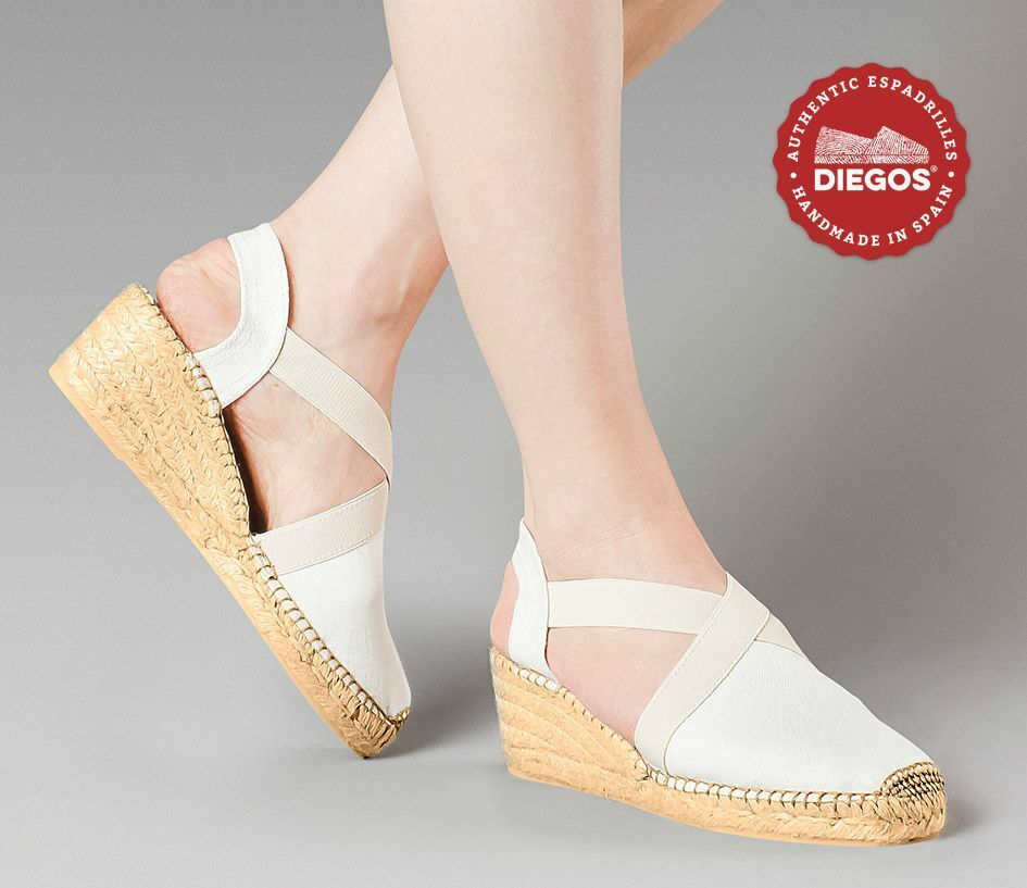 Diegos® Classic high wedge ivory Belen espadrilles shoes hand hand hand made in Spain 81de61