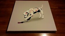 Kunstrasen Art Print Poster Original Canvas Painting Stencil Dog Most Dalmation