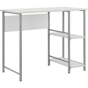 Fine Details About Minimal Modern Metal Desk With 2 Side Shelves Home Office Or Bedroom 8 Colors Home Remodeling Inspirations Basidirectenergyitoicom