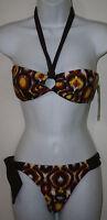 1sol Brown Yellow Orange Swimsuit Bikini S African Teardrop Odelia 2 4 Ashle