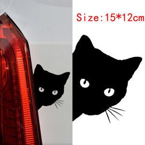 1x-Cute-Cat-Face-Peeking-Car-Styling-Sticker-For-Auto-Windshied-Door-Vinyl-Decal