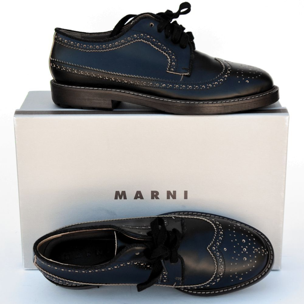 MARNI New sz 40 - 10 Authentic Designer Womens Flats Oxfords Shoes brown $670