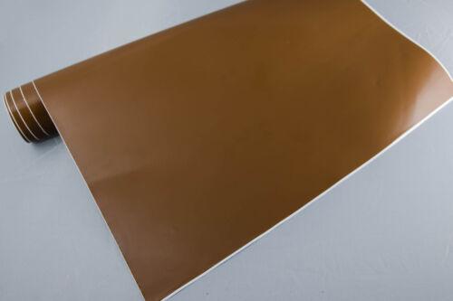 3,2€//m² Plotterfolie glänzend 6 hellbraun 400x106 cm Möbel-Folie selbstklebend