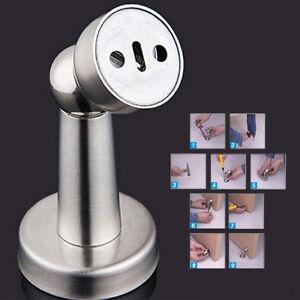 hochwertig edelstahl magnetisch t r stopper halter fang t rpuffer po ebay. Black Bedroom Furniture Sets. Home Design Ideas