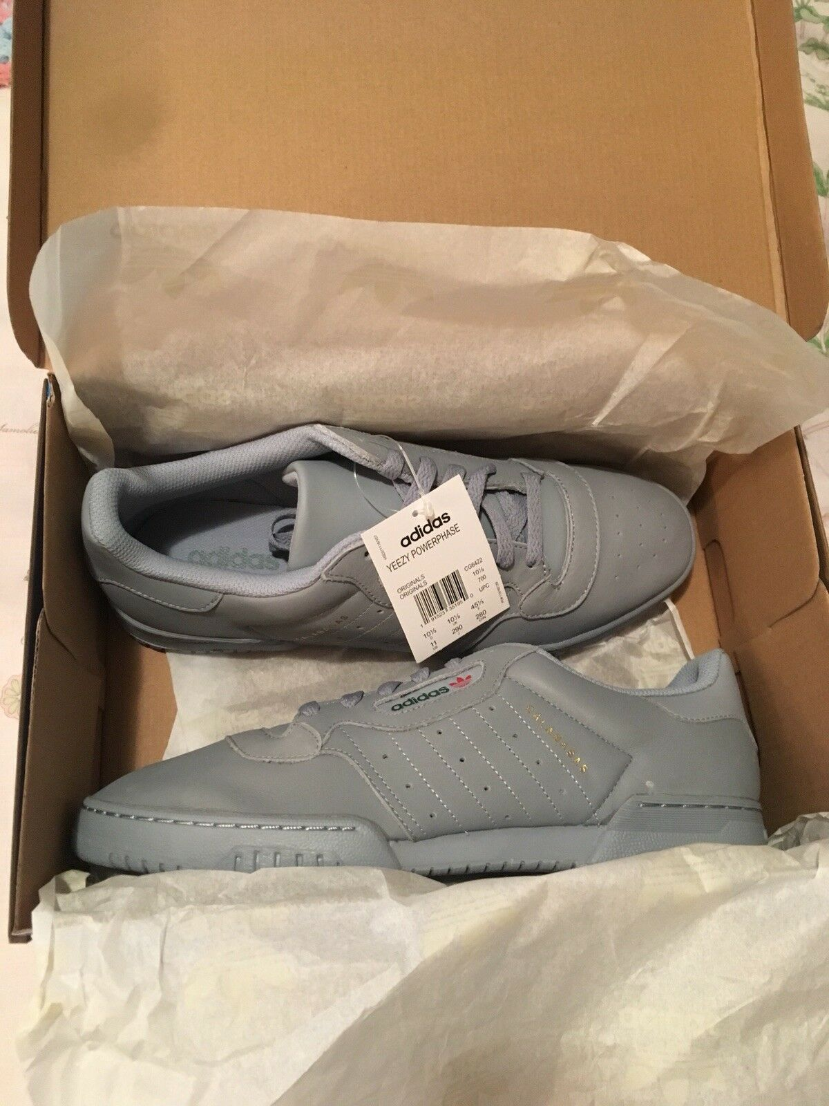 Adidas yeezy calabasas powerphase box grauen 11 new in box powerphase aca69f