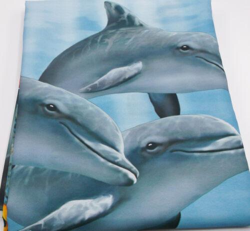 Shower Curtain Tropical Fish Dolphin Underwater Coral Blue Ocean NIP photo bath