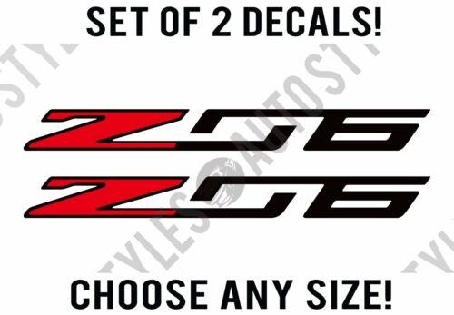 Decal Vinyl Sticker PAIR Z06 Chevy Corvette Coupe Convertible C2 C5 C6 C7 2018