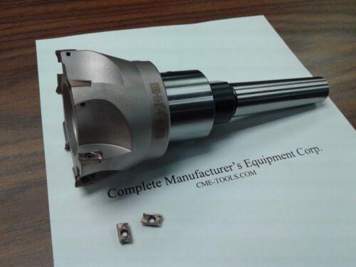 "shell mill Sandvik 3/"" 90 degree indexable face mill MT3 arbor #506-SDVK-3"