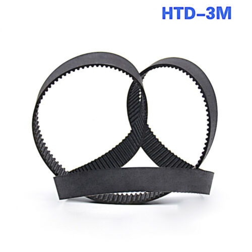 HTD 3M-189//210//216-390 Close Loop Rubber Timing Pulley Belt 10//15mm Width