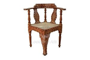 Superb Details About Handmade Indian Camel Bone Inlay Modern Wooden Furniture Chair Brown Color Pdpeps Interior Chair Design Pdpepsorg