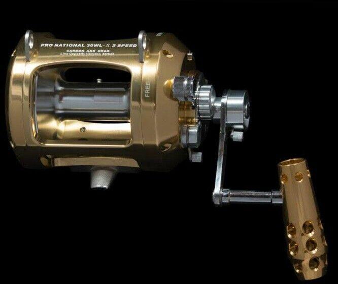 OKIAYA PRO-NATIONAL 30W-II 2 med AXR Drag 2 Speeds Big Game Rulle