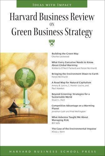 Harvard Business Review Paperback Ser Harvard Business Review On Green Business Strategy By Harvard Business School Press Staff 2007 Trade Paperback For Sale Online Ebay