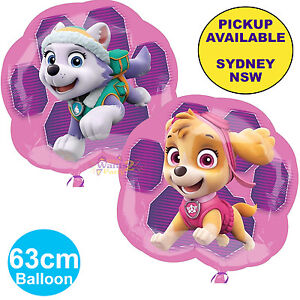 Image Is Loading PAW PATROL PINK GIRLS PARTY SUPPLIES BALLOON SKYE