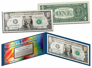 SOLID-GOLD-HOLOGRAM-Legal-Tender-US-1-Bill-Currency-w-Folio-Limited-Edition
