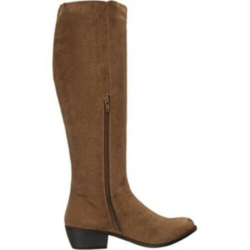Taupe Size 9M 1480-1486 Not Rated Trinidy Knee-High Fringed Fashion Boot