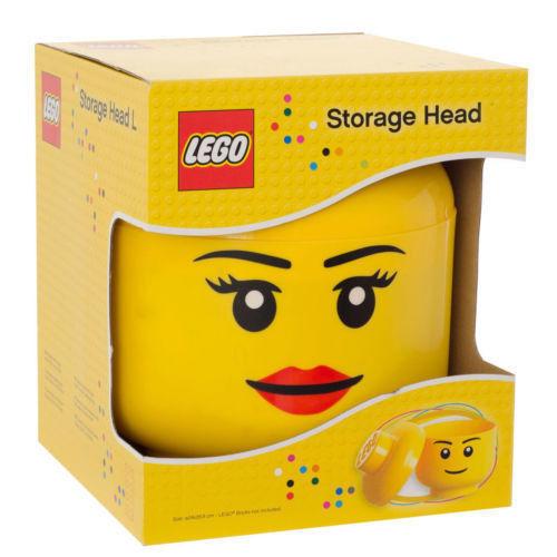 Lego Large Gelb Storage Head - Brand New in Box RETIROT