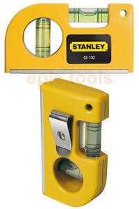 stanley 85mm poche magn tique niveau bulle avec 2 flacons pratique ebay. Black Bedroom Furniture Sets. Home Design Ideas