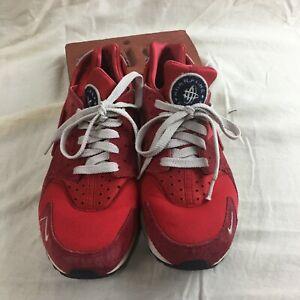 Nike Air Huarache Run PRM 704830-602 University Red Men's Running ...