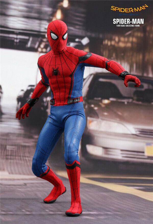 HC giocattolo Spider-Man RITORNO A CASA 1 6th Scale Figura Azione 30cm Nuovo In Magazzino