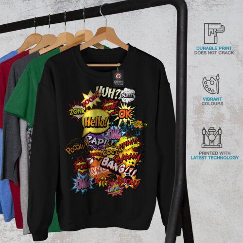 Black moda moda fumetti New Felpa uomo F4BqwnnX