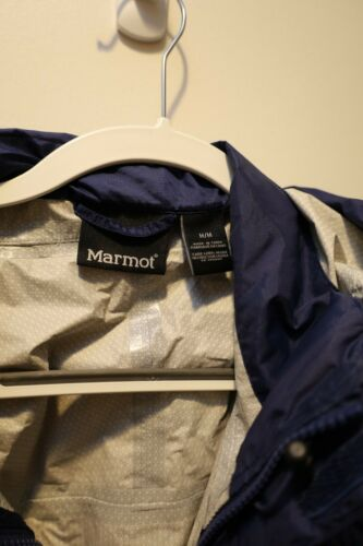Marmot Mens Rain Jacket Medium Blue