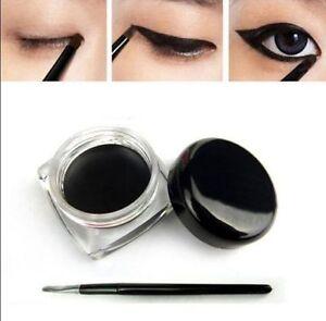 Alto-Color-Negro-cosmeticos-Impermeable-Eye-Liner-Delineador-Sombra-En-Gel-Maquillaje-Y-Cepillo