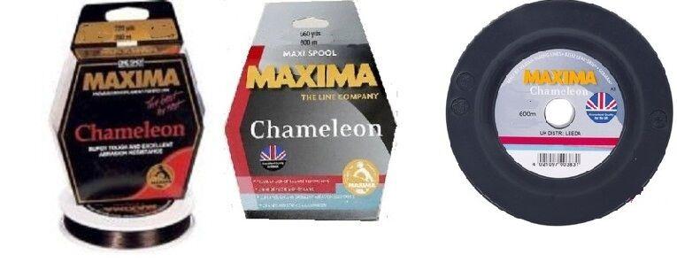 Maxima Chameleon Fishing Line 600m Spools 2lb-100lb