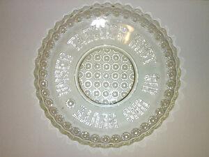 Antiker-Glasteller-Pressglas-UNSER-TAEGLICH-BROT-GIB-UNS-HEUTE-1906-Krug-amp-Mundt
