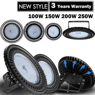 UFO LED High Bay Light 250W 200W 150W 100W Factory Industrial Warehouse Gym Lamp