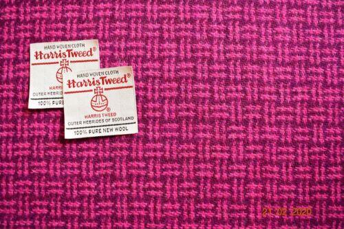 Harris Tweed pink//plum basket weave direct from the weaver 75cm wide x 50 cm