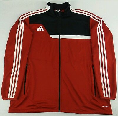 ADIDAS Men/'s CLIMACOOL Black//Red TRACK FULL ZIP WARM-UP JACKET NEW M