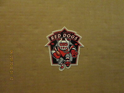Fan Apparel & Souvenirs Afl New Jersey Red Dogs Vintage Defunct Circa 1997 Team Logo Football Sticker Sports Mem, Cards & Fan Shop