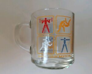MCDONALD-039-S-1984-OLYMPICS-LOS-ANGELES-USA-GLASS-MUG-VINTAGE