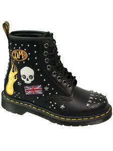Dr-Martens-Doc-Stiefel-Boot1460-Rockabilly-Smooth-Black-Nieten-Punk-RAR-5141