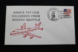 Space-Cover-1977-Mano-Cancel-Shuttle-747-Trasportatore-Jet-Consegnato-da-Boeing
