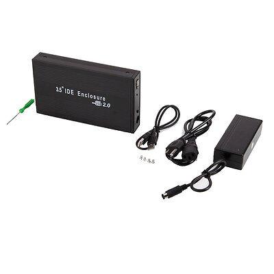 """New 3.5"""" IDE Aluminum HDD Hard Drive Enclosure USB 2.0  External Case"""
