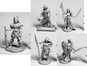 Reaper-Bones-3-Kickstarter-5-Female-Miniatures-77486-77487-77488-77489-77490