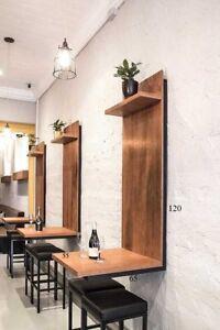tavolo da parete bar / giardino metallo industrial desing style ...