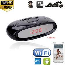 Wireless Full HD 1080P WiFi Alarm Clock Camera DVR Motion Video APP Camcorder DV