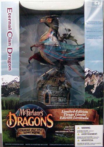 MCFARLANE'S DRAGONS DRAGON DRAGON DRAGON ETERNAL CLAN DELUXE ACTION FIGURE DRAGON BOX NEW a08401