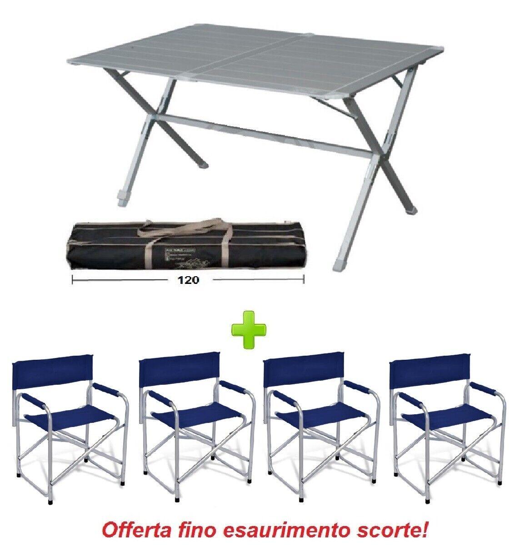 Sedia Regista Alluminio Offerte.Con Alluminio In 120x80x72 Eureka Campeggio Da Tavolo 4 Borsa