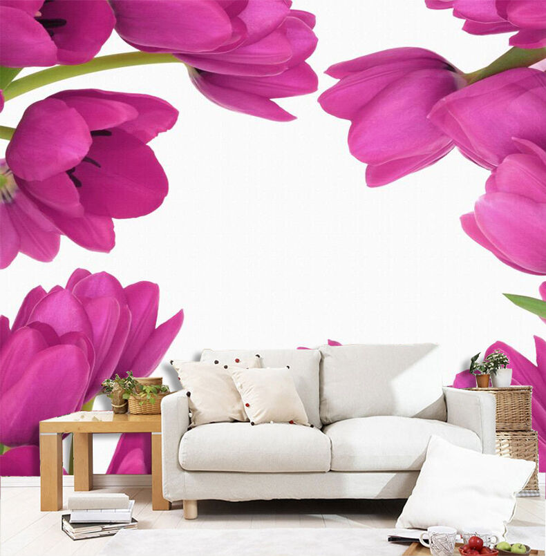 3D Bright rot Flowers 2872 Paper Wall Print Wall Decal Wall Deco Indoor Murals